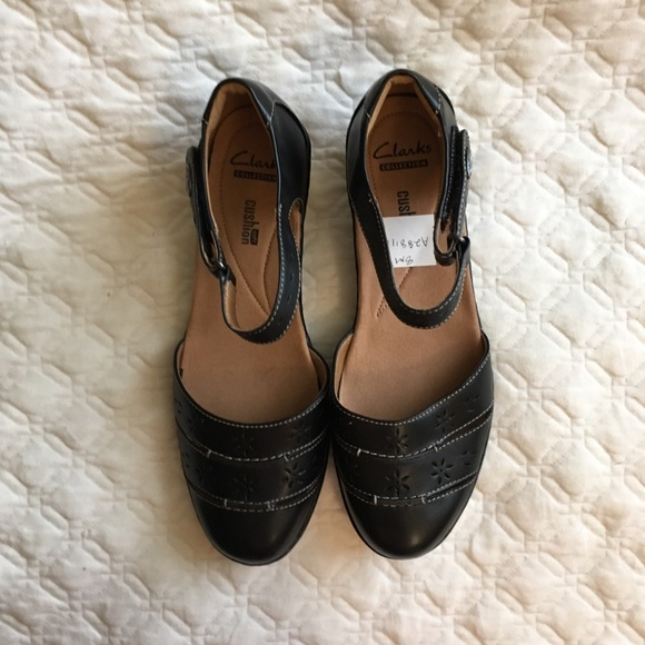 9f47c932fb6 Clarks Shoes - New Clarks Wendy Mary Jane Black Leather Sandals